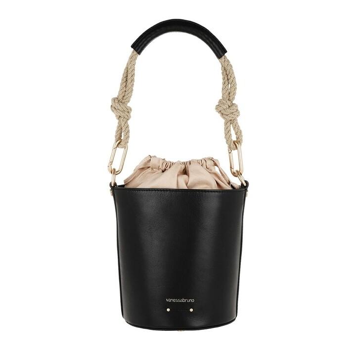 Handtasche, Vanessa Bruno, Holly Mini Bucket Bag Noir