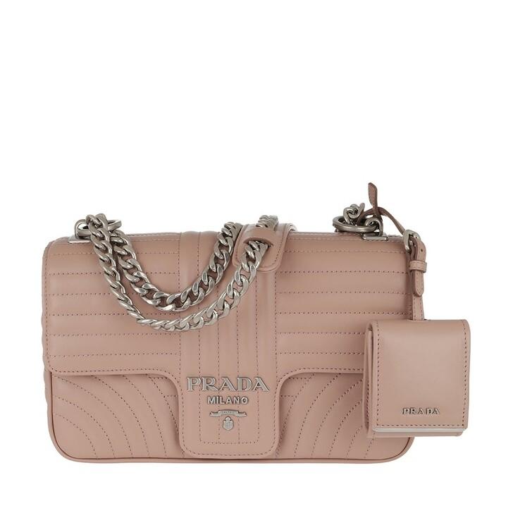 Handtasche, Prada, Diagramme Shoulder Bag Medium Leather Powder