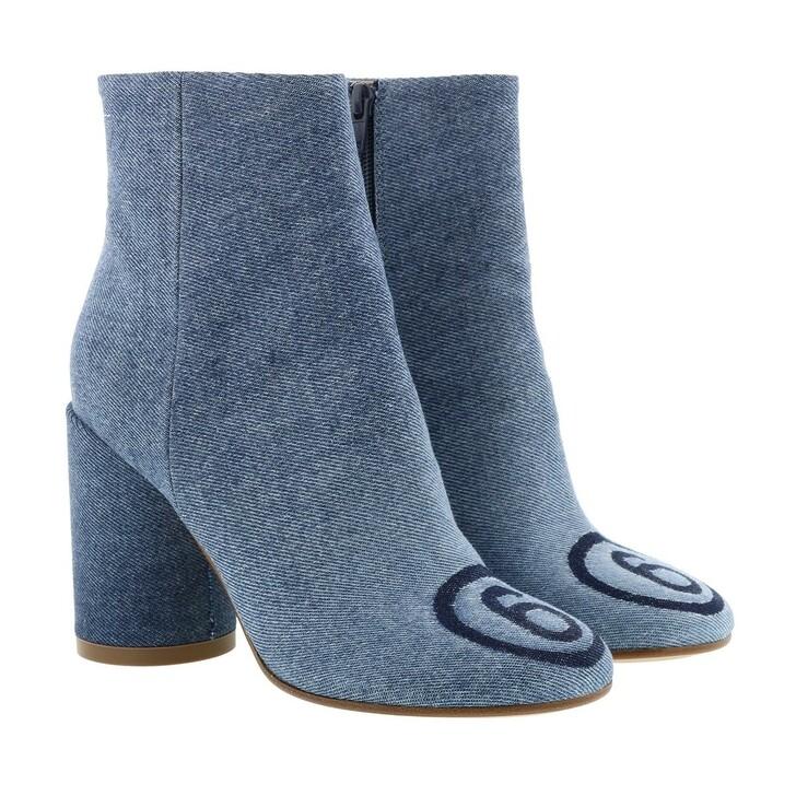 Schuh, MM6 Maison Margiela, Ankle Boot Denim Lavato