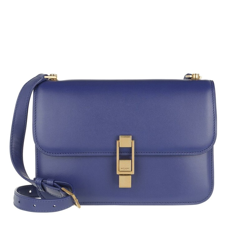 Handtasche, Saint Laurent, Carree Crossbody Bag Leather Saphir Blue