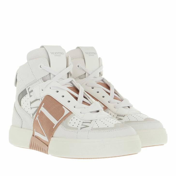 shoes, Valentino Garavani, High Top Sneakers White/White
