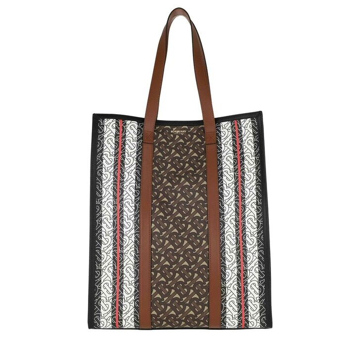 Handtasche, Burberry, Monogram Stripe Tote Bag Bridle Brown