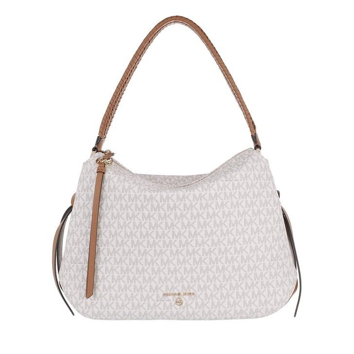 Handtasche, MICHAEL Michael Kors, Grand Large Hobo Shoulder Tote Vanilla/Acrn