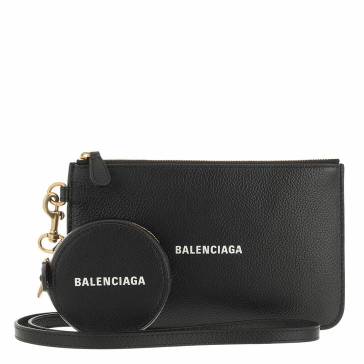 wallets, Balenciaga, Cash Pochette White Black