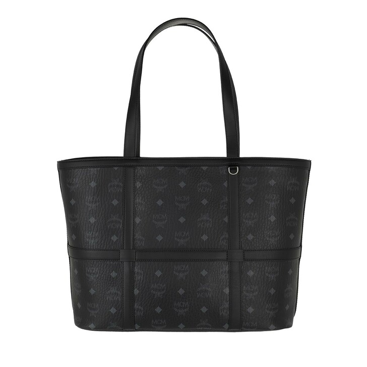 Handtasche, MCM, Delmy Visetos Shopper Medium  Black
