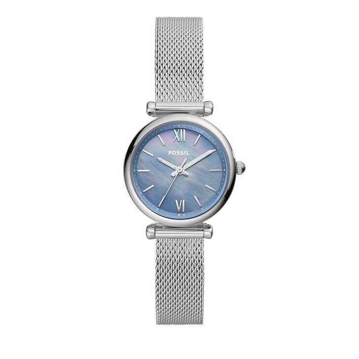 Uhr, Fossil, Carlie Mini Three-Hand Stainless Steel Mesh Watch Silver