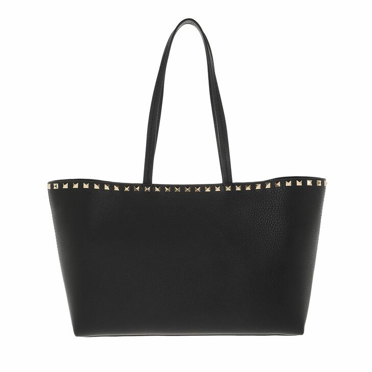 bags, Valentino Garavani, Rockstud Shopping Bag Calfskin Black