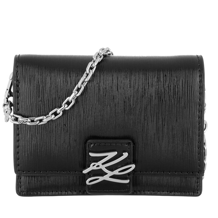wallets, Karl Lagerfeld, Autograph Woc Shell  Black