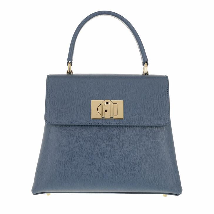 Handtasche, Furla, 1928 Small Top Handle Blu Denim
