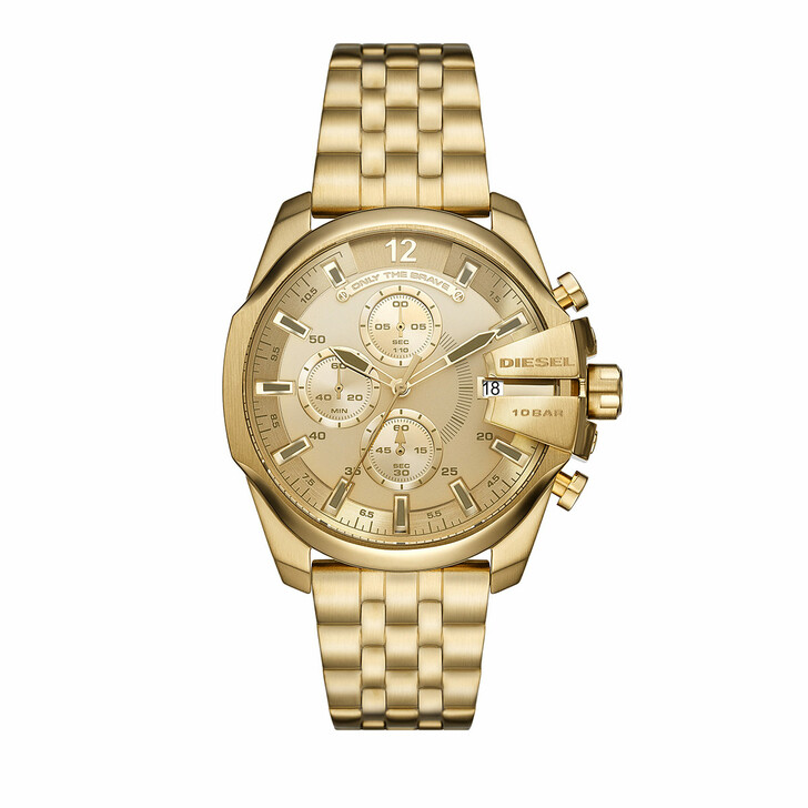 Uhr, Diesel, Baby Chief Chronograph Stainless Steel Watch Gold