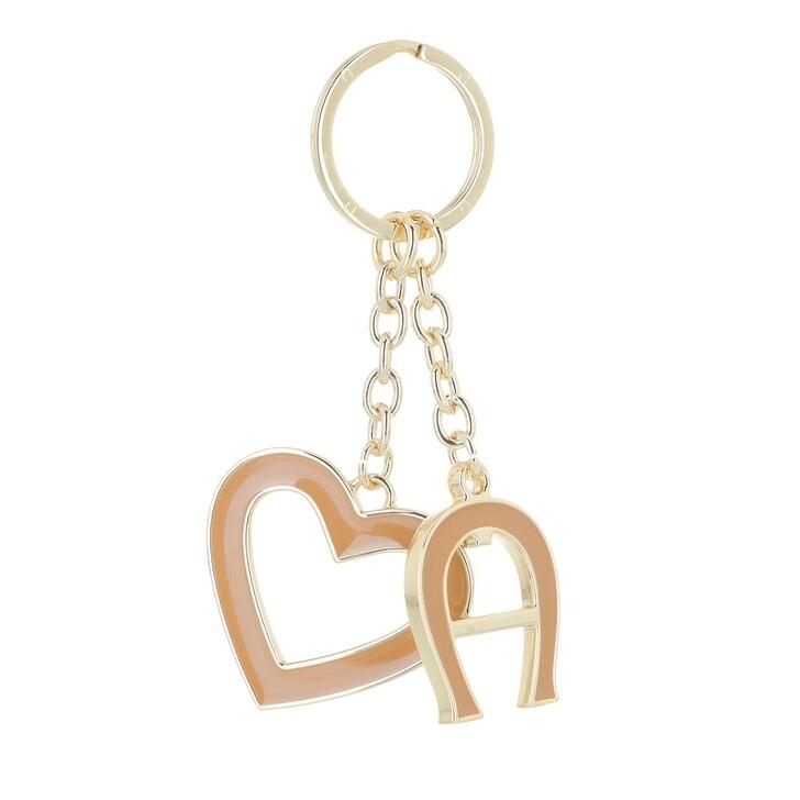 keyrings, AIGNER, Fashion Keychain Heart Cinnamon
