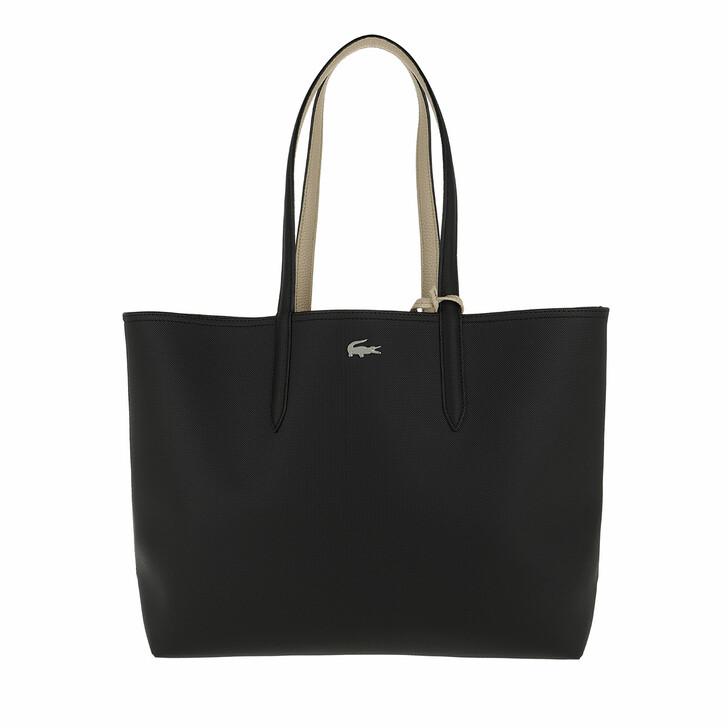 Handtasche, Lacoste, Anna Shopping Bag Black Warm Sand