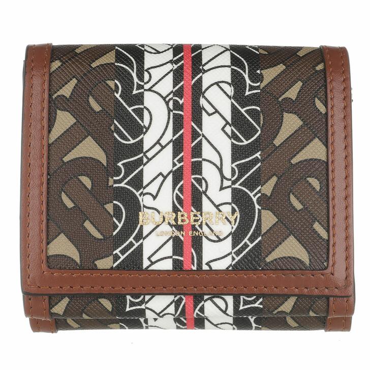 Geldbörse, Burberry, Branded Folding Wallet Luna Bridle Brown
