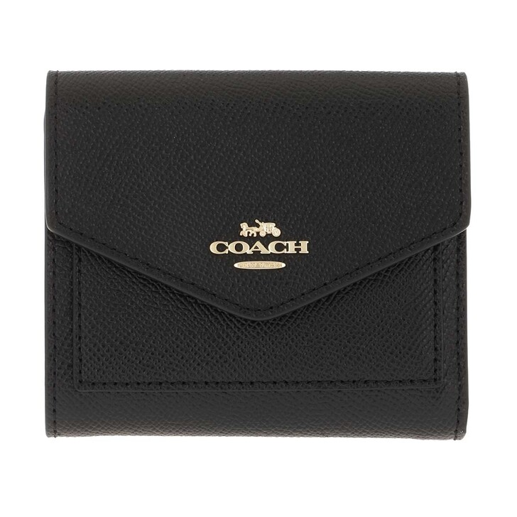 Geldbörse, Coach, Crossgrain Leather Small Wallet Li/Black