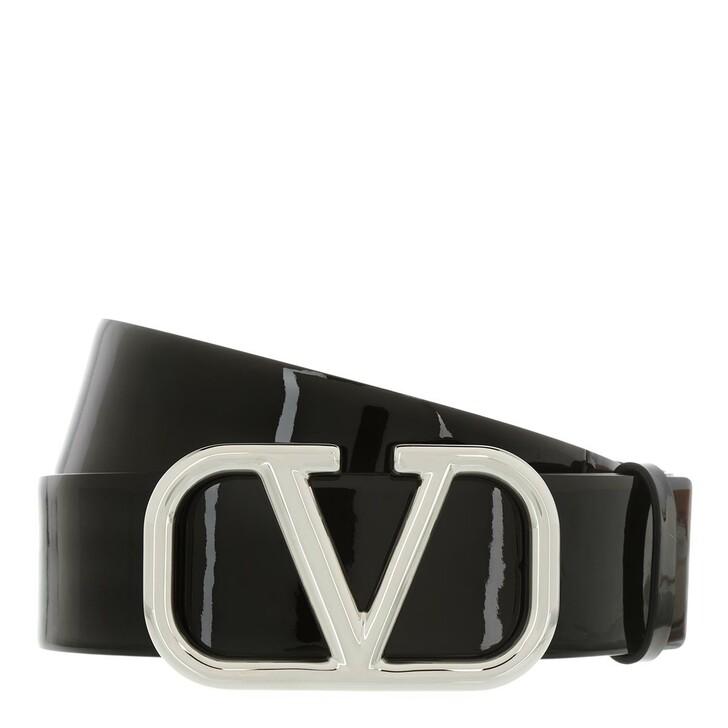 Gürtel, Valentino, V Logo Belt Leather Black