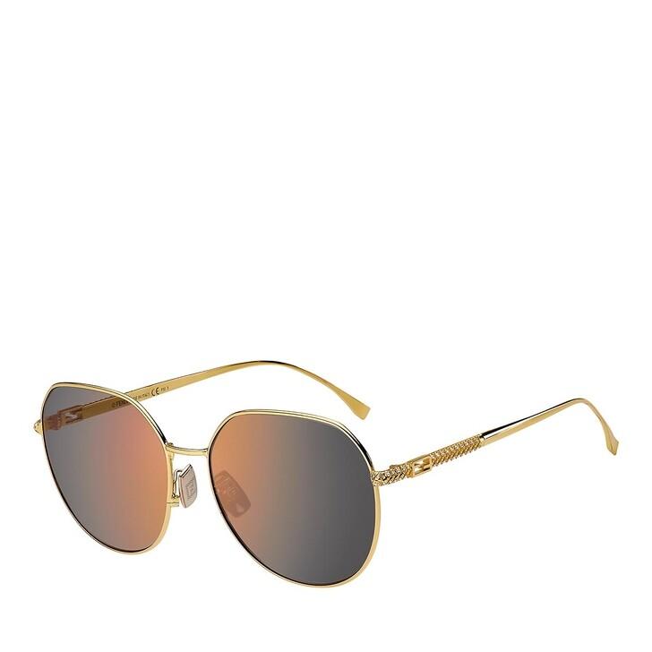 sunglasses, Fendi, FF 0451/F/S YELLOW GOLD