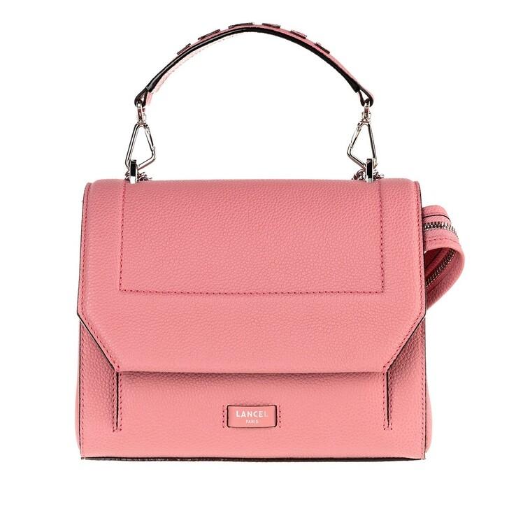 Handtasche, Lancel, Ninon Grained Leather Flap Bag Medium Pink