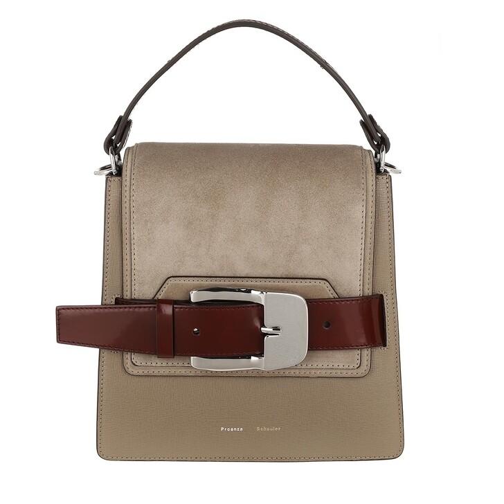 Handtasche, Proenza Schouler, Buckle Trapeze Bag Calfskin Light Taupe