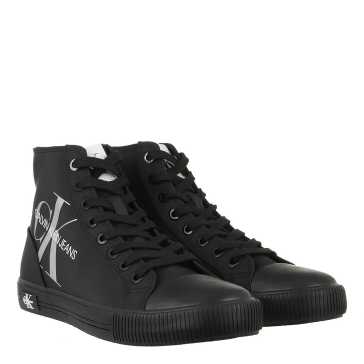 Schuh, Calvin Klein, Vulcanized High Lace Up Sneakers Black