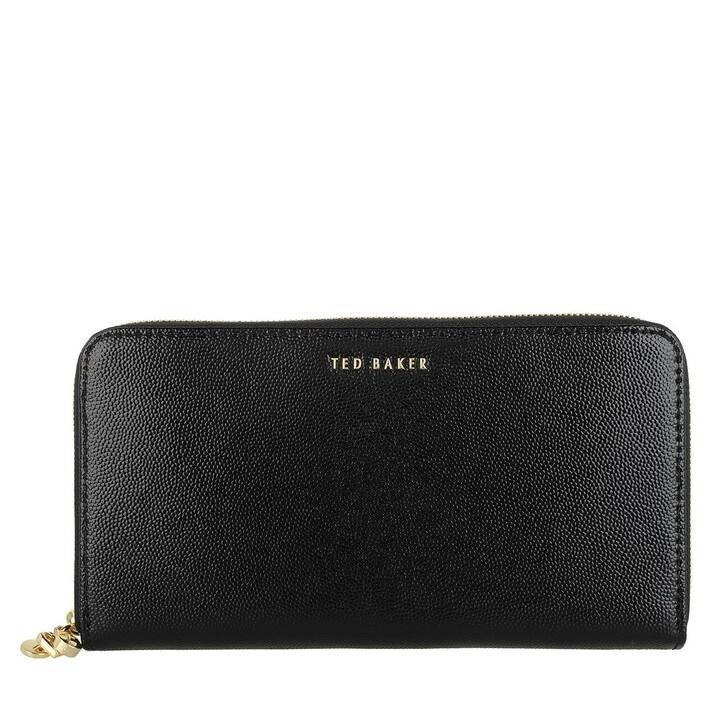Geldbörse, Ted Baker, OOLLIVE Multi Charm Zip Around Matinee Wallet BLACK