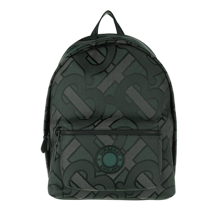 Reisetasche, Burberry, Monogram Jacquard Backpack Recycled Polyester Forest Green