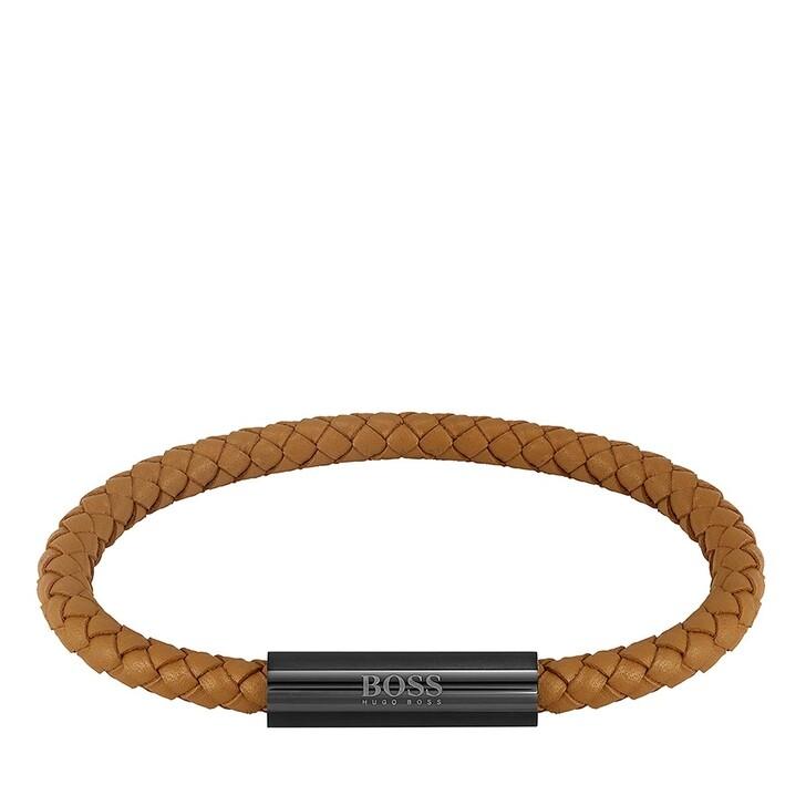 Armreif, Boss, Bracelet Braided Leather Light Brown