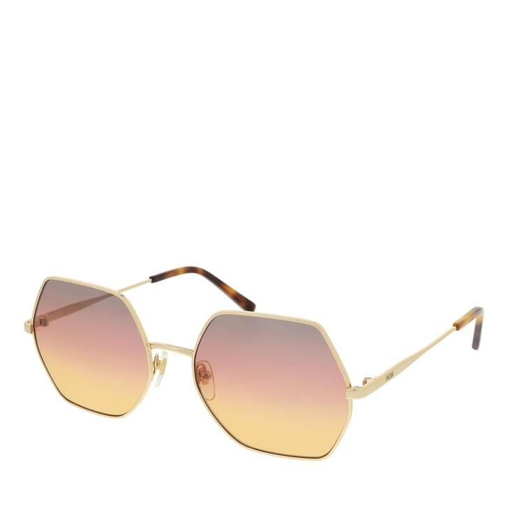 Sonnenbrille, MCM, MCM140S Sunglasses Shiny Gold/Grey Rose Orange