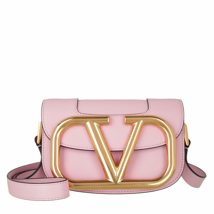 bags, Valentino Garavani, Supervee Crossbody Bag Small Rose Quartz