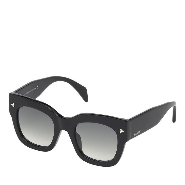 sunglasses, Bally, BY0006-H Shiny Black /Gradient Smoke