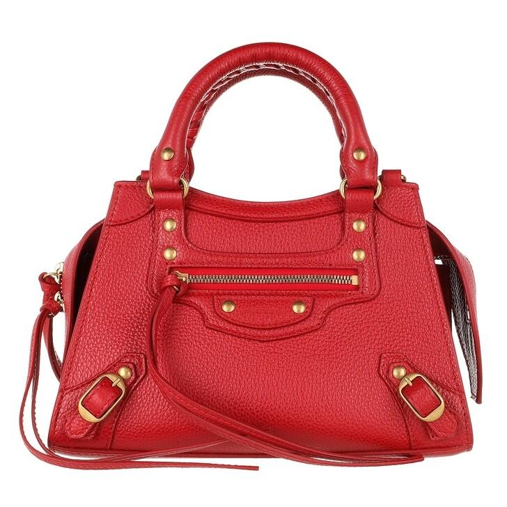 Handtasche, Balenciaga, Neo Classic Mini Top Handle Bag Grained Calfskin Red