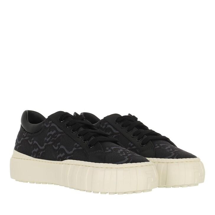 shoes, Fendi, Force Sneakers Jacquard Black/White
