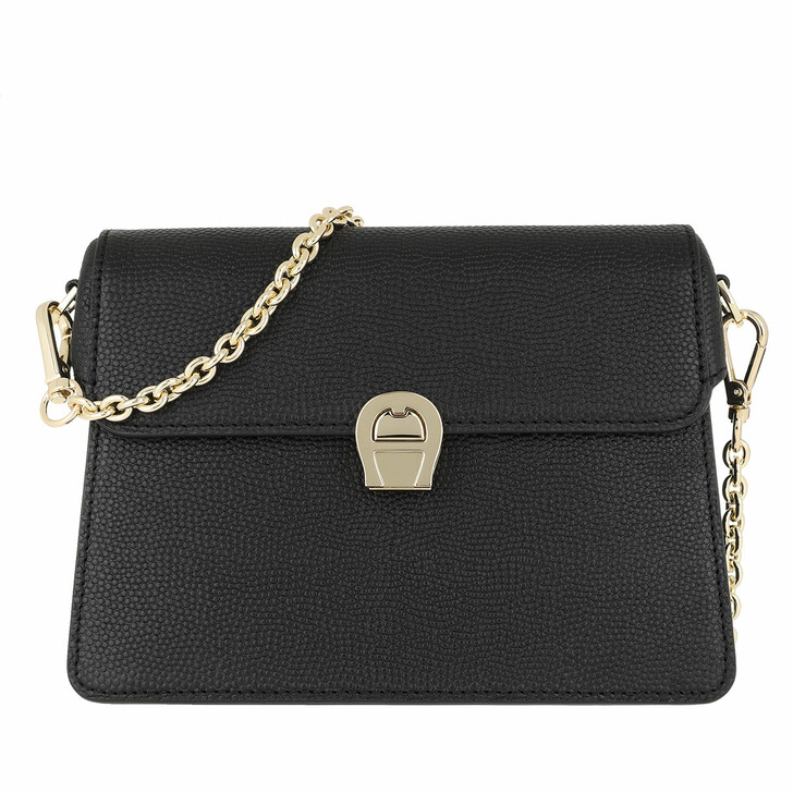 Handtasche, AIGNER, Genoveva Handle Bag Black