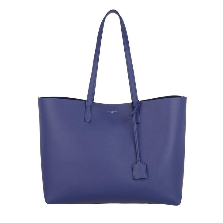 Handtasche, Saint Laurent, East West Medium Tote Leather Saphir Blue