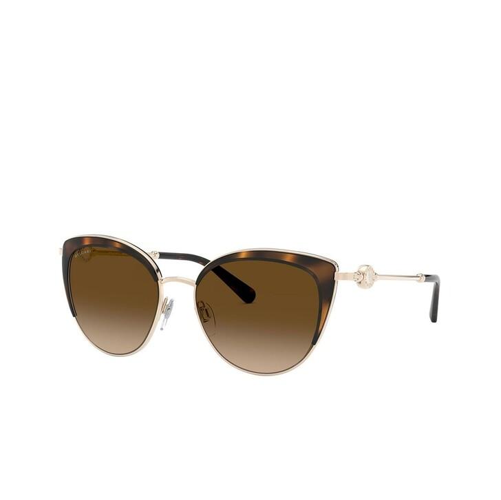 Sonnenbrille, BVLGARI, 0BV6133 Pale Gold/Dark Havana