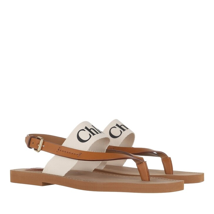 shoes, Chloé, Logo Strap Sandals White