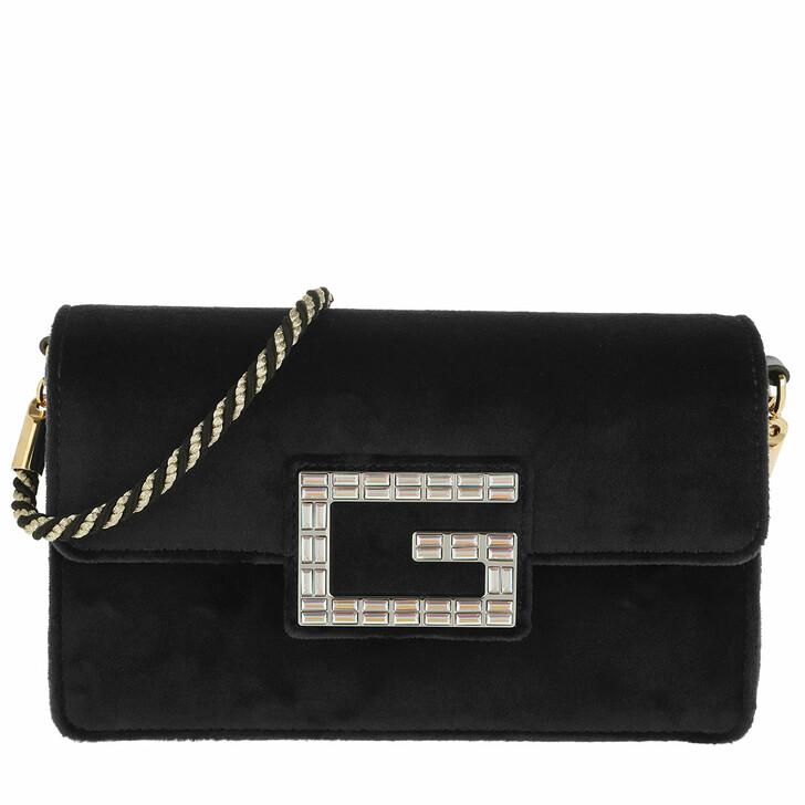 bags, Gucci, Shoulder Bag with Square G Velvet Black