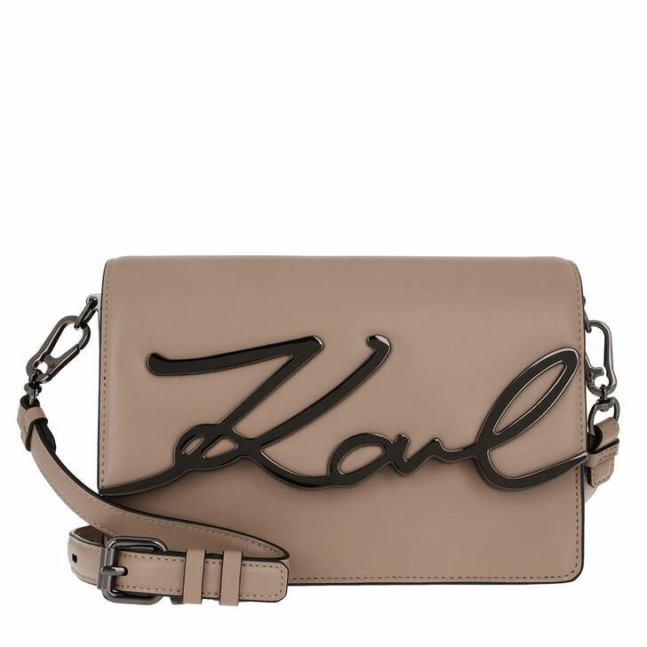 Handtasche, Karl Lagerfeld, Karl Signature Shoulderbag Clay