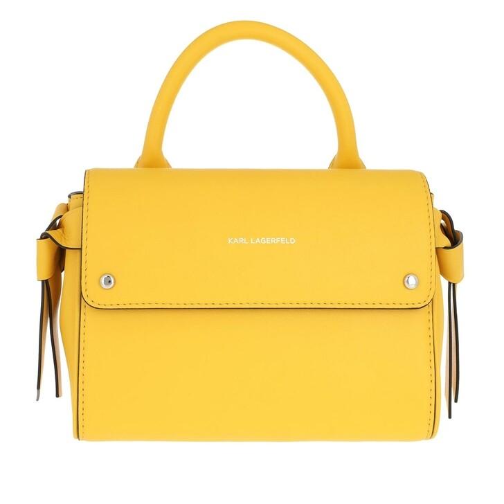 Handtasche, Karl Lagerfeld, Karl Ikon Mini Top Handle Bag Sun Yellow