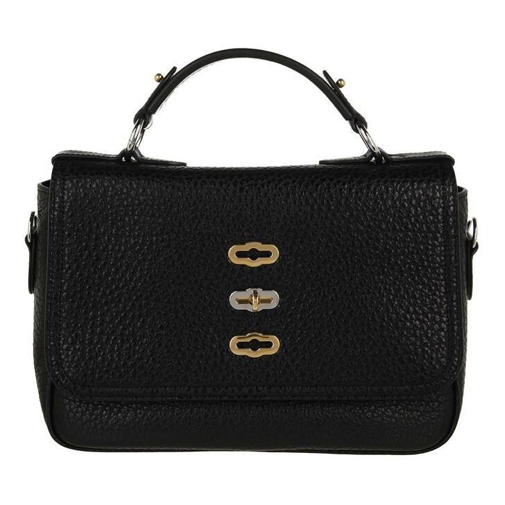 bags, Mulberry, Bryn Crossbody Bag Shiny Pebbled Grain Black