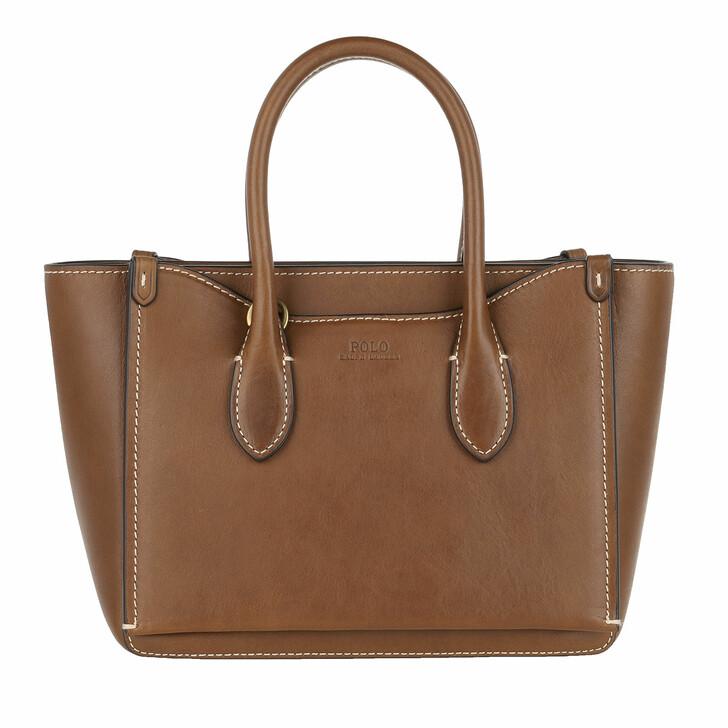 Handtasche, Polo Ralph Lauren, Sloane Mini Satchel Bag Saddle