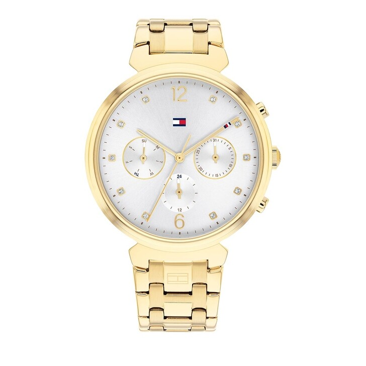 watches, Tommy Hilfiger, Quarz Watch Gold