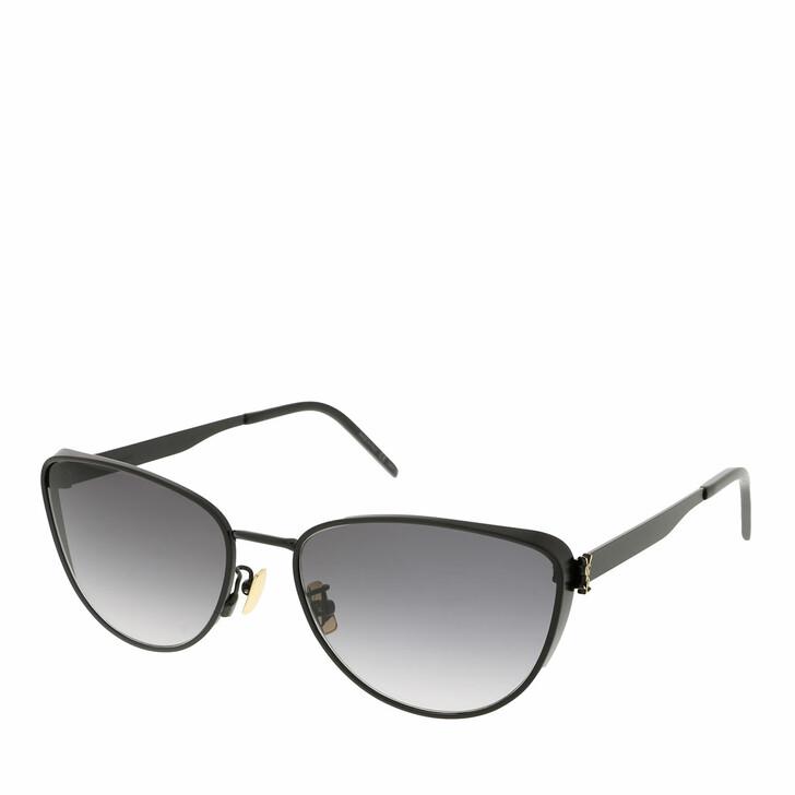 sunglasses, Saint Laurent, SL M90-002 58 Sunglass Woman Metal Black-Black-Grey