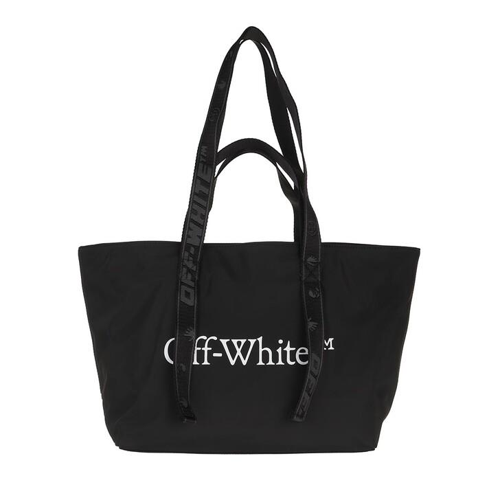 Handtasche, Off-White, Nylon Small Commercial Tote Black White