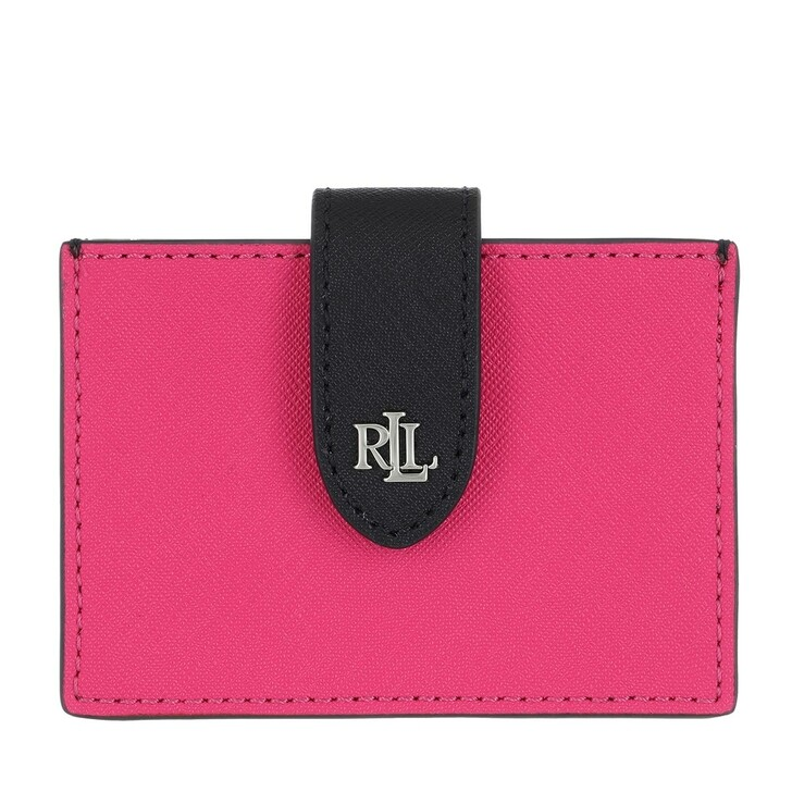 Geldbörse, Lauren Ralph Lauren, Accordn Card Card Case Medium Nouveau Bright Pink/Lauren Nvy