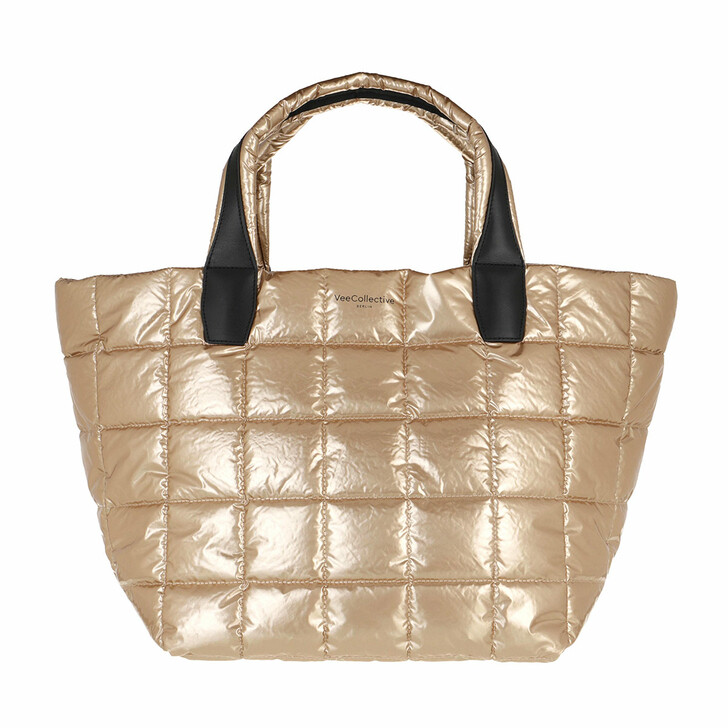 Handtasche, VeeCollective, The Porter Medium Gold Metallic