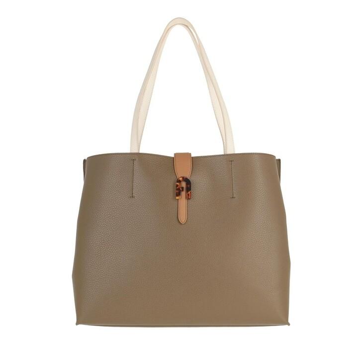 Handtasche, Furla, Sofia Large Tote Fango Miele Pergamena