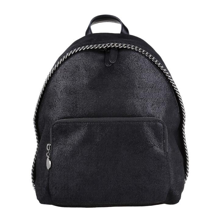 Handtasche, Stella McCartney, Shaggy Small Zip Around Backpack Black