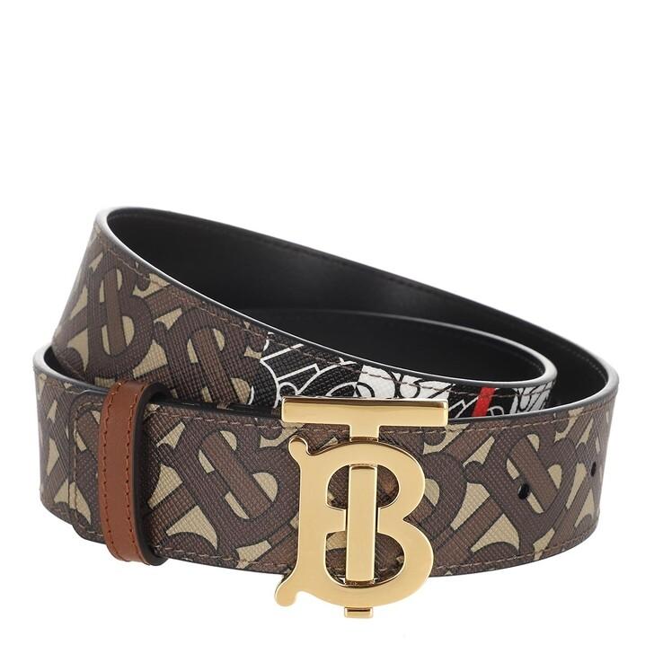Gürtel, Burberry, Patterned Belt Leather Bridle Brown