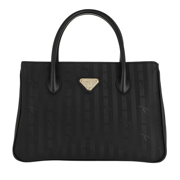 Handtasche, Maison Mollerus, Donat Handle Bag Black Gold