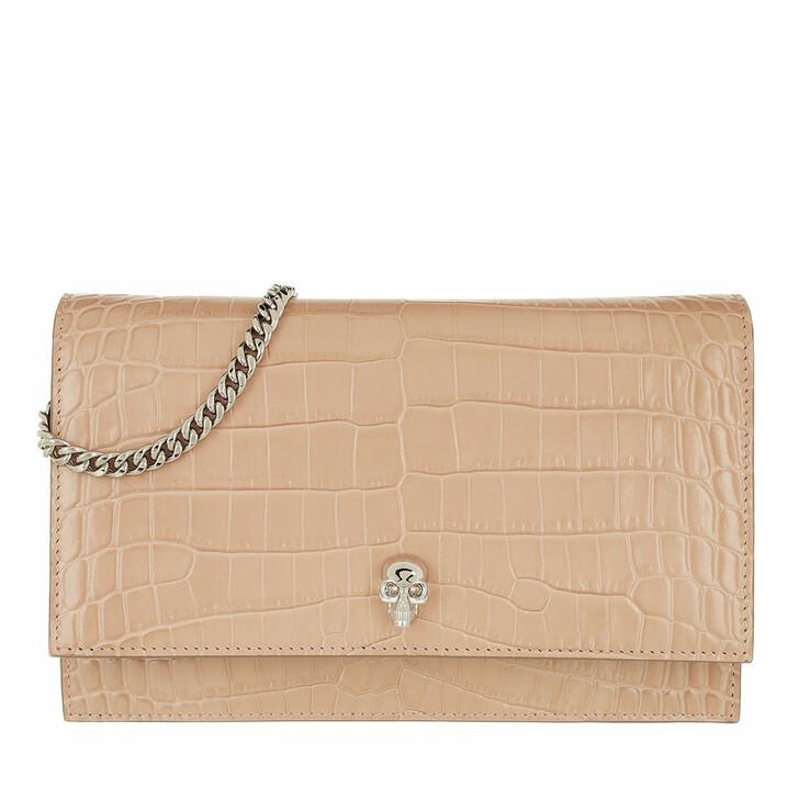 bags, Alexander McQueen, Skull Crossbody Bag Patent Leather Rose